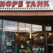 The shop front of the store: Hope Tank