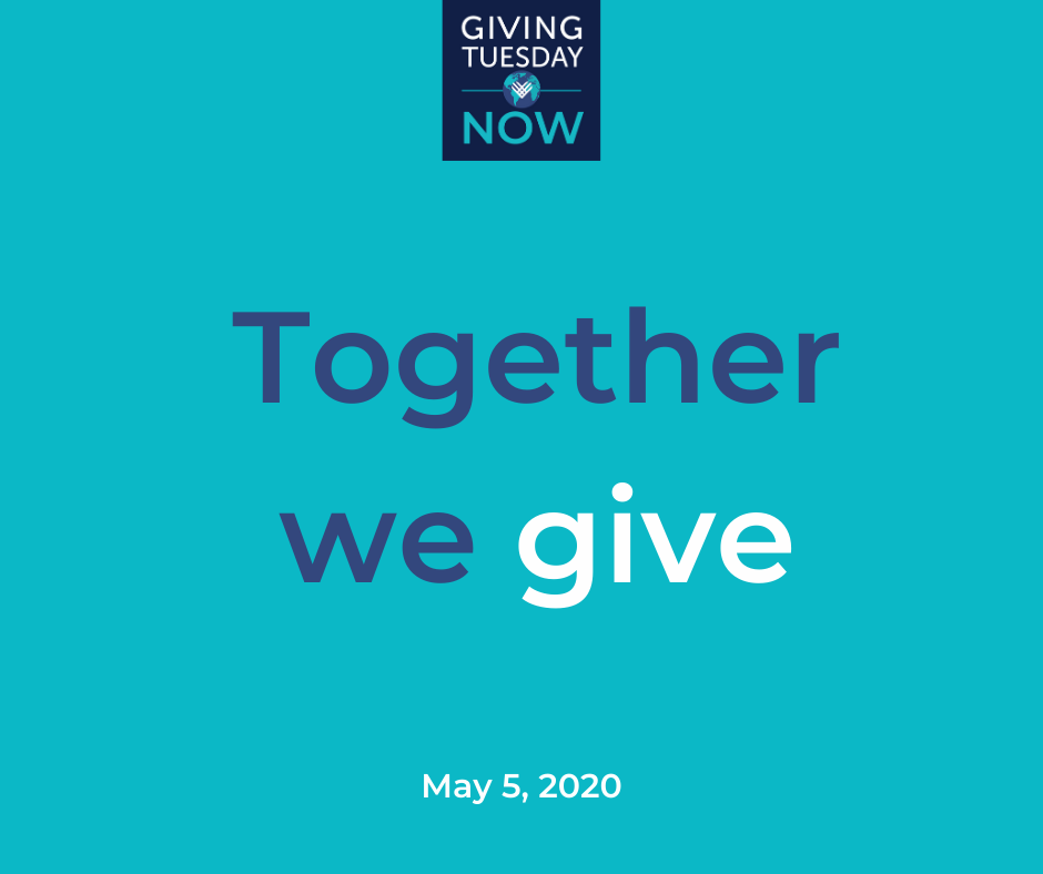 "Graphic that says ""Together we give""."