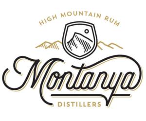 Montanya Distillers logo, beige mountains