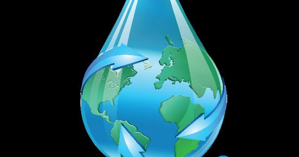 boss defrost logo, blue water drop with planet earth inside