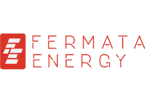 Fermata Energy logo, red and white