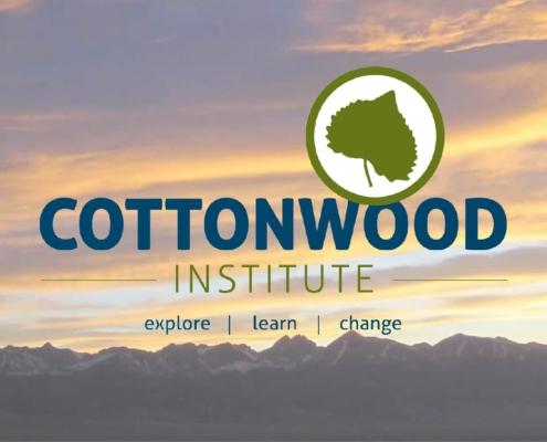 Logo for Cottonwood Institute against sky backdrop.