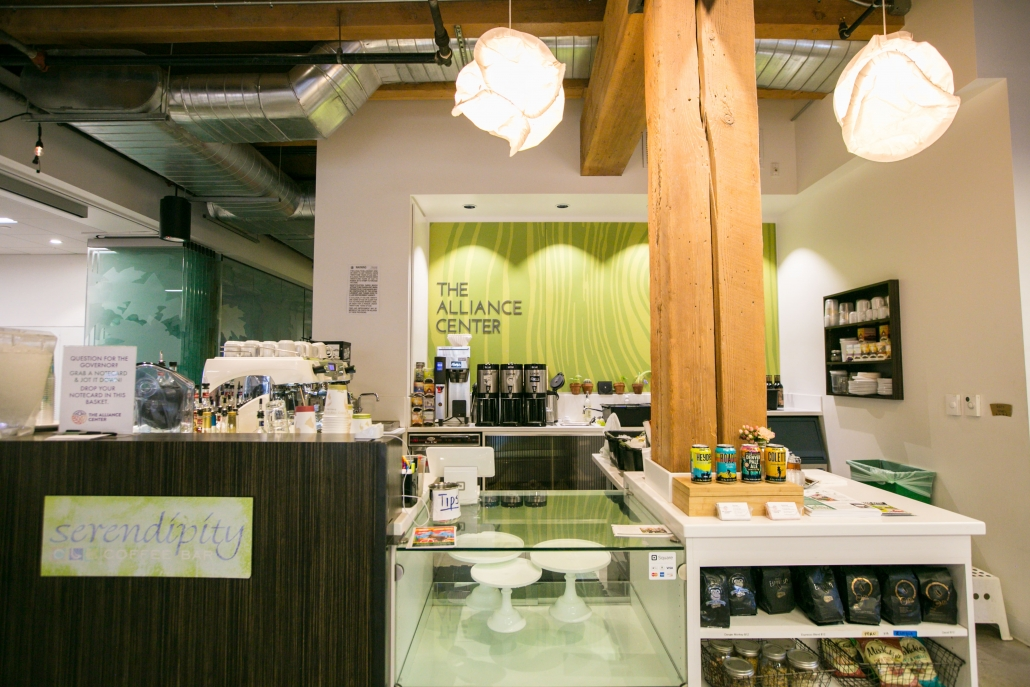 Serendipity coffee bar, coffee shop in the Alliance Center