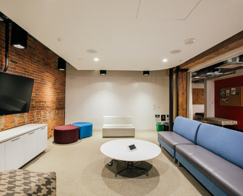Shared meeting space in the WELL Health-Safety certified Alliance Center