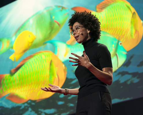 Ayana Elizabeth Johnson speaks during the Unplugged Session at TED2019: Bigger Than Us. April 15 - 19, 2019, Vancouver, BC, Canada. Photo: Ryan Lash / TED