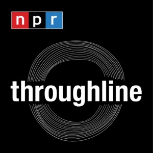"""Promotional poster for NPR podcast """"Throughline"""" on racial history"""
